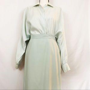 Vintage Escada Silk & Wool Pencil Skirt & Blouse